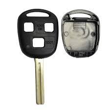 lexus sc430 logo remote 3 button car key shell stying cover case short blade 42mm for lexus gx470 rx350 jpg