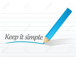 keep it simple message illustration design a white background