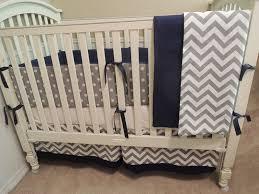 navy gray chevron all nighter baby bedding set babylovin