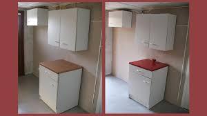 retaper armoire de cuisine meuble de cuisine brut peindre meuble cuisine gris bois cuisine
