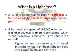 how far does light travel in one second images How many light years old are you ppt video online download jpg