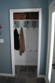 Small Closet Organization Pinterest by Turned Front Hall Closet Into Entryway