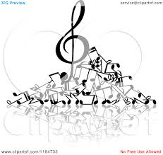 music notes black and white clipart panda free clipart images