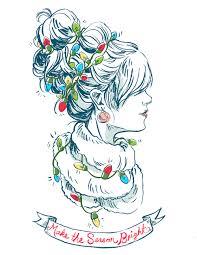gif merry christmas christmas illustration art fashion