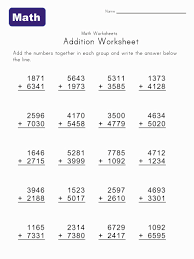 add math worksheets free worksheets library download and print
