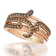 levian engagement rings 14 karat gold levian swirl chocolate diamond ring