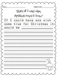 free christmas themed step by step instruction writing activities