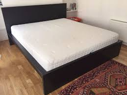 king size ikea hyllestad mattress firm white 200x180 bed