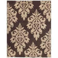 Rugs In Home Depot Home Decorators Collection Meadow Damask Dark Brown 9 Ft 6 In X