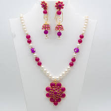 multi color stone necklace images Mybluepink multicolor shell pearl and stone necklace set jpg