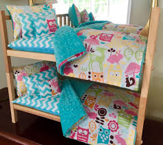 American Made Bunk Beds Stackable Doll Bunk Bed 10 Pc Bedding W Mattress 18 Dolls