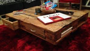 pallet table coffee couch table from euro pallets diy pallet