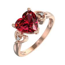 daimond ring heart shaped ruby and diamond rings for your beloved