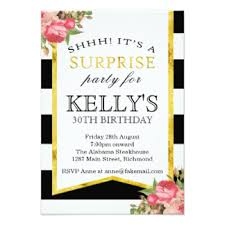 surprise birthday invitations u0026 announcements zazzle