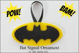 while wearing heels bat signal ornament