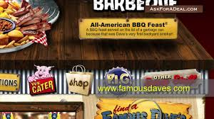 famous dave u0027s bbq coupons youtube