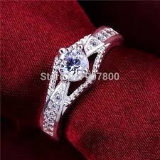 beautiful rings design images R597 silver color wedding engagement finger ring with aaa zircon jpg