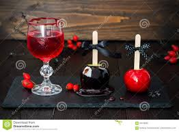 red bloody vampire cocktail and black poison and red caramel