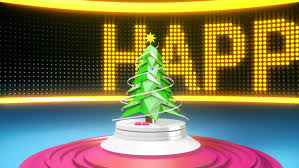 Happy New Year Stage Decoration by Close Up Of The Glamorous Pink Christmas Tree Decoration Toy