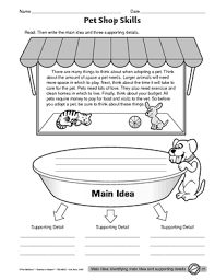 pictures on main idea worksheets for kindergarten wedding ideas