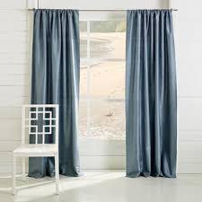 Silk Dupioni Curtains Aegean Blue Dupioni Grommet Curtain World Market
