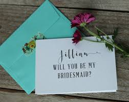 Cards To Ask Bridesmaids Flowergirl Card Etsy