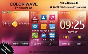 themes for nokia c2 touch and type color wave theme for nokia c2 03 c2 06 x3 02 themebowl