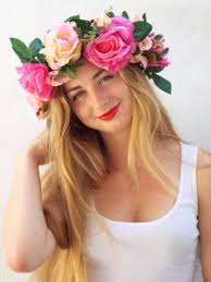 big flower headbands floral headband crafthubs