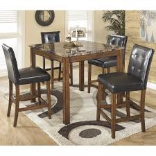 ashley furniture corner table ashley furniture theo 5 piece square counter table set in warm brown