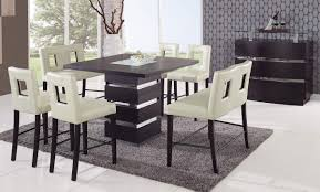 Counter Height Dining Room Table Sets Modern Counter High Dining Table Medium Brown Finish Modern For