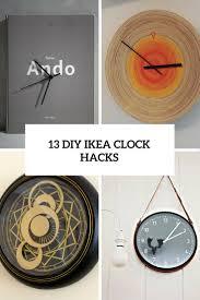 13 chic diy ikea clock hacks that you u0027ll love shelterness