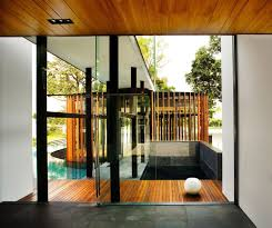 screen house contemporary residence with wooden shade hupehome