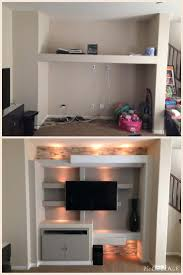 custom drywall entertainment center las vegas before and after