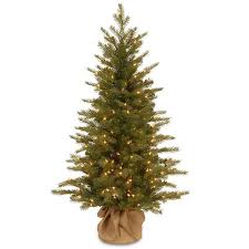 4 ft pre lit feel real nordic spruce artificial tree