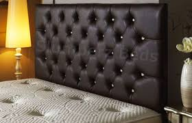 bedford buttoned faux leather headboard
