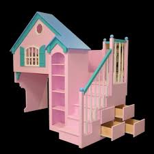 girls dollhouse bed tiny loft house floor plans storage stairs imanada dollhouse kids