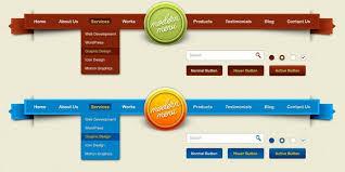 website menu design 45 great free navigation menu psds