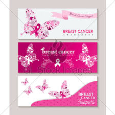 breast cancer awareness with pink butterfly gl stock images