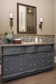 Grey Wood Bathroom Vanity Bathroom Decorating Idas Using Light Grey Wood Antique Dresser