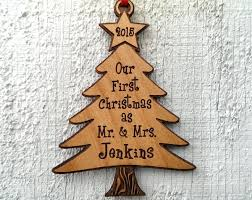 our as mr and mrs tree ornament