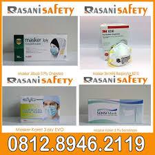 Masker Hijau 1 Box toko masker medis 3 ply warna hijau murah di tangerang rasani safety