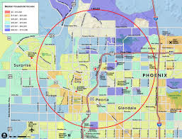Phoenix Map by Red Paw Technologies Nw Phoenix Glendale Arizona