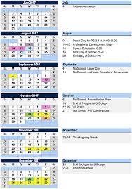 messiah lutheran next school year calendar