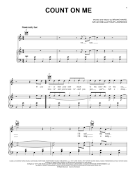 Count On Me Bruno Mars Piano Pdf Bruno Mars Sheet To And Print Center Of