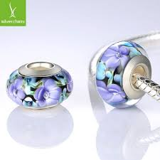 murano glass beads bracelet images Silver plated flower murano glass beads fit wst bracelet bangles jpg