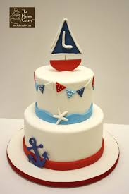 sailboat cake topper sailboat nautical birthday cake the hudson cakery