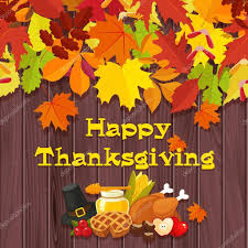 happy thanksgiving day vector banner with traditional table plenty