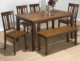 jofran kura espresso and canyon gold solid rubberwood rectangle jofran kura espresso and canyon gold 6 piece dining set item number 875