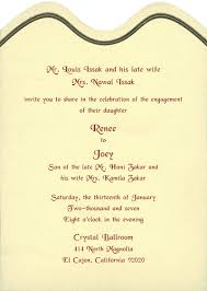 engagement ceremony invitation engagement printed sles