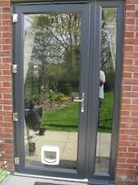 Cat Flap Patio Door Upvc Patio Door Glazed With Glass Side Panel And Frame